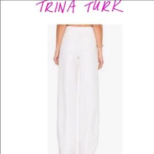Trina Turk white zip up trouser pants size 8
